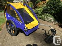 Excellent condition. Converts from a bike trailer to a