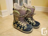 Utilized good condition womens snowboard boots, ladies