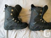 1 pair of Burton snowboard boots, listed as women's