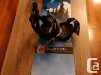 Selling Burton Cruzer Snowboard (145cm) and all kit to