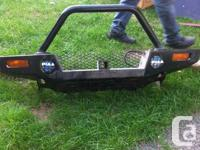 Heavy duty bush bumper with receiver for a winch it