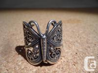 This is a Beautiful Big Vintage Butterfly Ring with