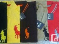 BUY SIX BRAND NEW RALPH LAUREN POLO SHIRTS WITH TAG