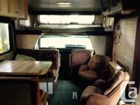 1986 corsair 27 ft. c-class motor home sold house must