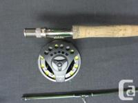 Cabela's Prestige 4 piece fly rod with steel reel in
