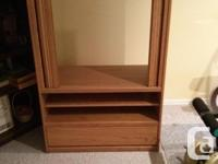 Cabinet, Oak Finish, 2 roll side doors, overall size