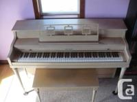 Cable-Nelson Spinet Piano.  Full keyboard.  2 pedals.