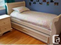 Single Bed Frame with Single Drawer matching night