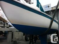 Cal 29, 1971. Bottom paint last year, hull scraped back