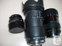 I have 3 Lenses for a Pentax camera. Pentax A..28-80