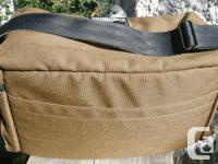 Cameron Canvas Camera Bag Medium Sized. Made in Canada.