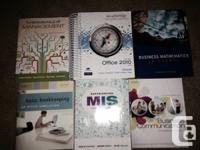 I have Camosun College business textbooks offer for