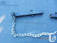 """FOUR TIE DOWN CHAINS FOR CAMPER/TRUCK. 5/16"""" GALVANIZED"""