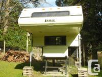 """1991 Lance Camper 9'3"""" Fridge, stove, oven, furnace,"""