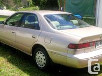 Make. Toyota. Model. Camry. Year. 1999. Colour. beige.