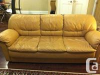Selling our leather couch and love seat to a good