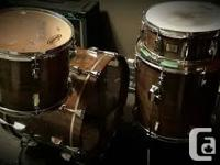 Obelisk Maple Drums (Made in Canada, unusual) 4 piece.