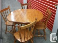 Table as well as chairs:. Made in Canada want dining