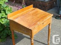 Antique Pine Slant Front Desk from Ontario. Dimensions