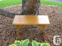 - Photo #1: Two antique pine stools with splayed legs.