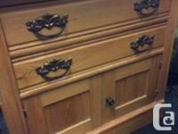 Lovely Canadiana washstand circa 1880�s. Features solid