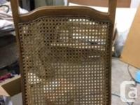 Cane High Back Dining Room Chairs For Sale. Set of 4.