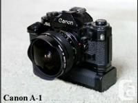 Canon A-1 35mm Film Electronic camera. Physical body
