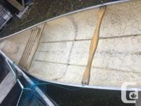 16 FOOT SQUARE BACK CANOE FOR SALE. LARGE, WIDE AND