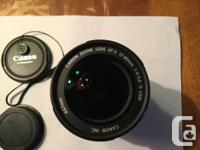 Canon 17-85mm Zoom lens excellent condition. Automatic