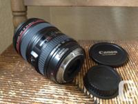 Canon 24-105 F4 L lens. Image stabilization great