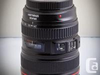 I am selling my Canon 24-105 f4 L Image Stabilizer