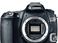 Canon 60D body 100% brand new, unopened. Zero/zero