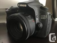 Canon 60D (body only) including a 17-85mm and 55-200mm
