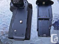 Canon 60D with battery grip (two batteries) and the