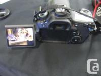 MoneyMaxx has a Canon 60d - With the EOS 60D DSLR,