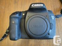 Canon 7 D - body just - A superb dslr. 18 megapixels