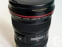 Absolute mint condition Canon EF 17-40 USM F/4 L lens,