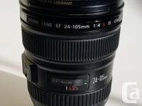 Absolute mint condition Canon EF 24-105 USM F/4 L IS
