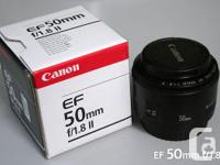 I have Canon EF 50mm f/1.8 II Lens in very good / new