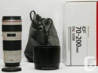Up for sale is a Canon EF 70-200mm f/4 L IS USM in