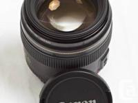 For sale is my 1 year old Canon EF 85 mm f1.8 lens