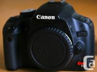 Available for sale is a mint problem 15MP Canon T1i. It