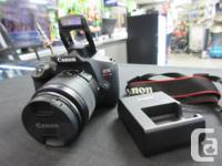 Mint condition Canon EOS Rebel T6 18MP DSLR with EF-S-