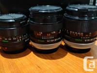 Hello, selling some nice old Canon FD Mount Lenses.