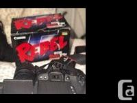 Almost brand new Canon Rebel T5i in immaculate