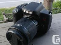 Canon t6i with kit lens, Joby Gorillapod stand and 32GB