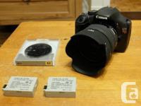 I'm selling my Canon T2i, Sigma 30mm 1.4, three