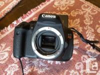 Canon T3i dSLR with 18-55mm lens. Sensor is 18Mp APS-c,
