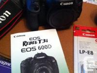 Canon T3i Rebel EOS / Lenses and Accessories For Sale