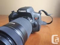 I am selling my Canon Rebel t6i with kit lens 18-55mm